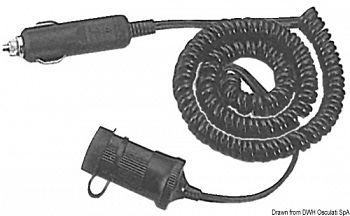 Cordone di prolunga spiralato tipo accendisigari