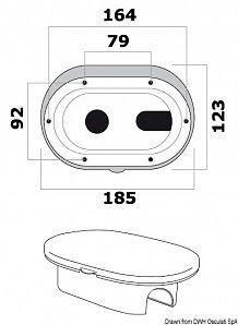 Box doccia bianco tubo PVC 2,5 m uscita posteriore/laterale