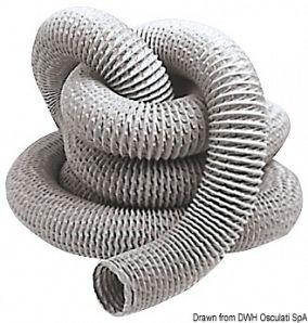 Tubo per aspiratore autoestinguente 80 mm