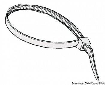 Fascette riapribili in nylon bianco 2 cm