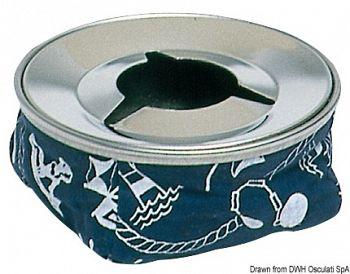 Posacenere acciaio inox blu