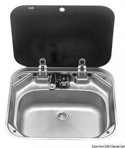 Lavello con rubinetto 420 x 370 mm